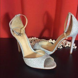 Schutz heels. Silver. Fancy. NWT. Size 10